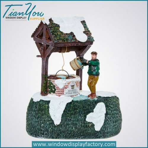 Hand Made Colorful Resin Village Farmer Craft Decoration