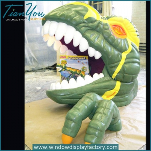 Animal Park Giant 3D Resin Rex Head Decoration Display