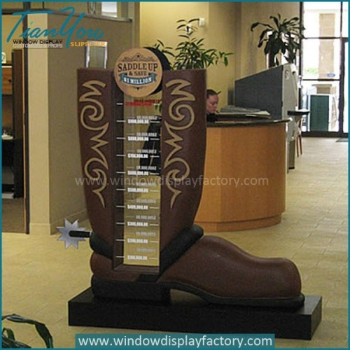 Newest Giant Fiberglass Boot Guide Post Display