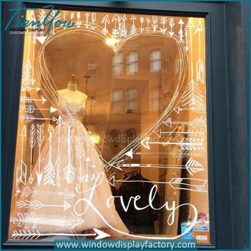 wedding window display