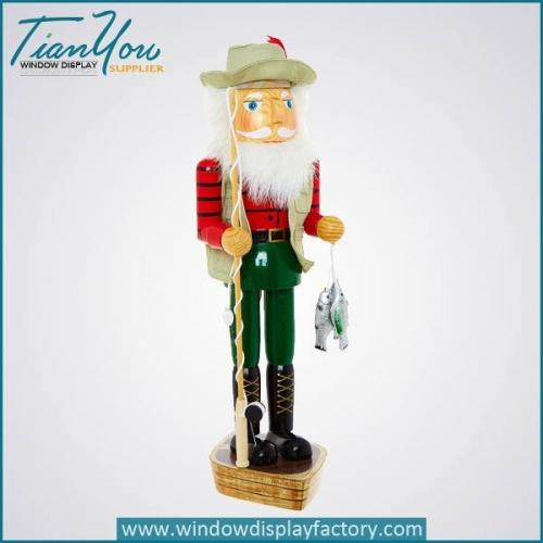 Wood Decorative Christmas Walnut Soldiers Craft Display