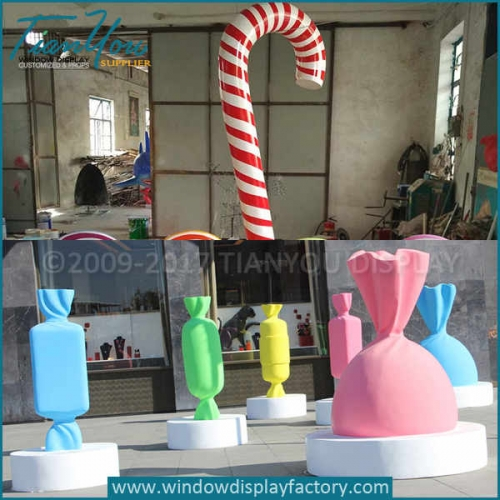 Custom christmas big candy cane decoration