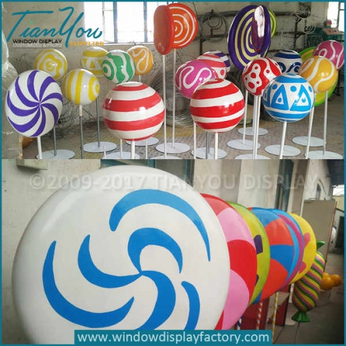 Custom decorative fake large lollipop prop