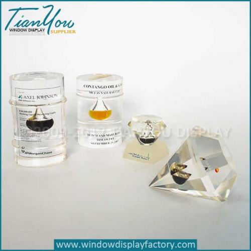 Custom glass vintage paperweights