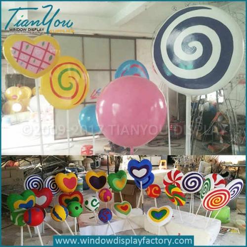 Custom heart big lollipops prop christmas decorations