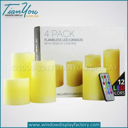 Artificial Led flameless candles lighting supplier