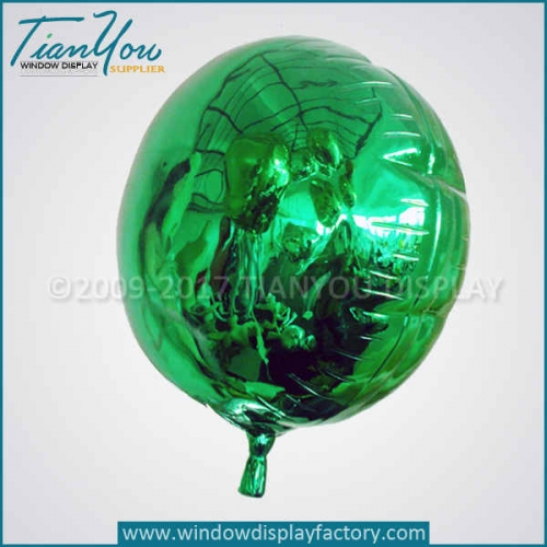 Resin foil green fake balloons props