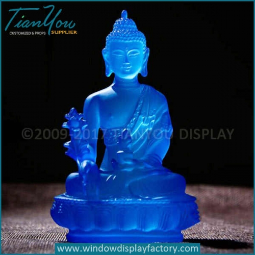Custom transparent resin thai buddha statue suppliers