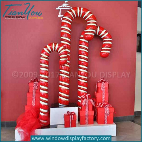 Christmas candy cane display props