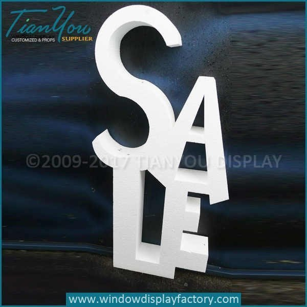 Custom clothing retail for sale sign