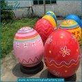 Custom Fiberglass Decorating Giant Easter Egg