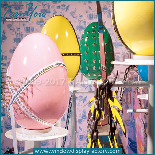 Custom Fiberglass Decorating Giant Easter Eggs