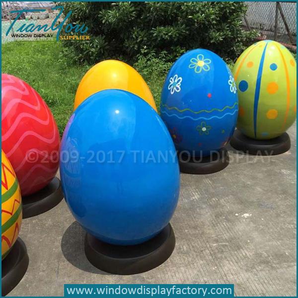Fiberglass Decorating Giant Easter Egg