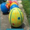 Fiberglass Decorating Giant Easter Eggs