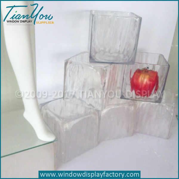 Transparent Artificial Fake Ice Cubes Display Prop