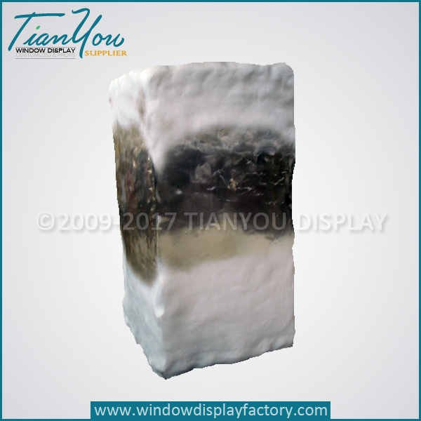 Transparent Artificial Fake Ice Cubes Display Props