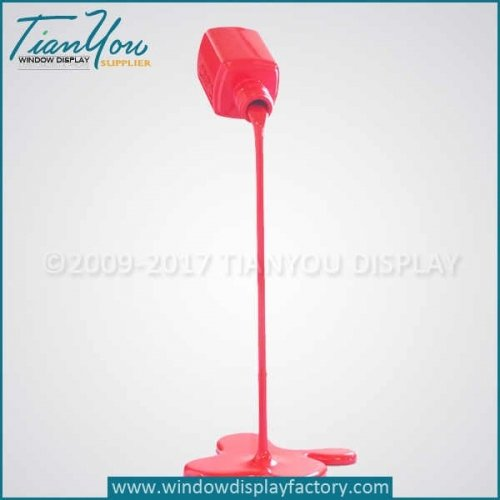 Resin fake spilling paint decoration for display