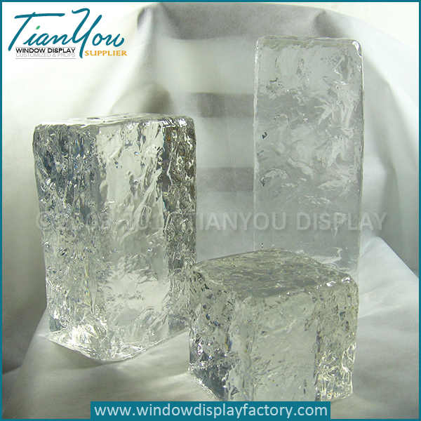 Resin large fake ice cubes for display