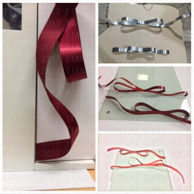 Blooming Ribbon used for Diamond Display Rack