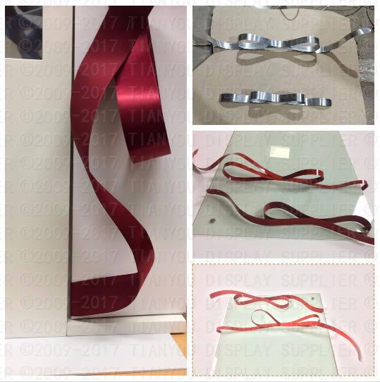 Blooming Ribbon used for Diamond Display Rack